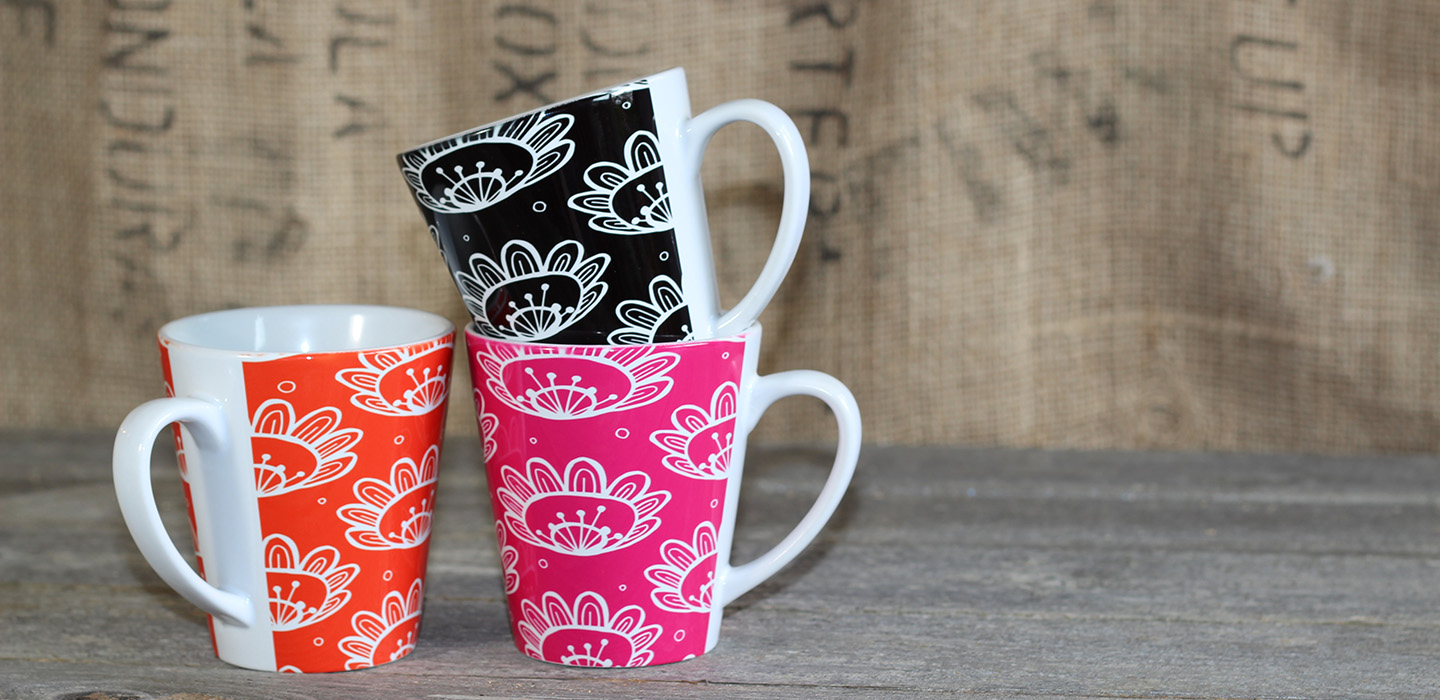 'Pollen' mugs - Part of my 'Weird and Wonderful' collection